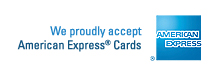 We proudly accept American Express® Cards