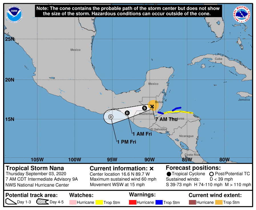 Tropical Storm Nana | September 3, 2020