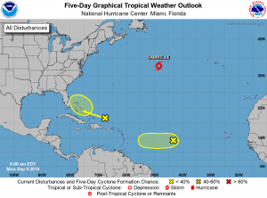 5-Day Tropical Outlook | September 9, 2019, 8am ET