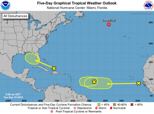5-Day Tropical Outlook | September 10, 2019, 8am ET