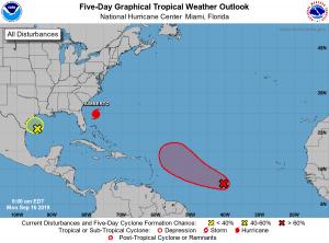 5-Day Tropical Outlook | September 16, 2019, 8am ET
