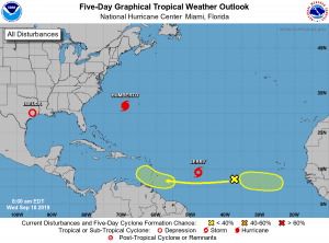 5-Day Tropical Outlook | September 18, 2019, 8am ET