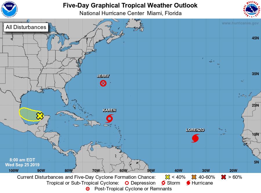 5-Day Tropical Outlook | September 25, 2019, 8am ET