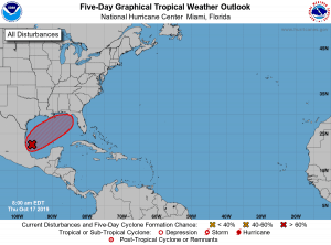 5-Day Tropical Outlook | October 17, 2019, 8am ET