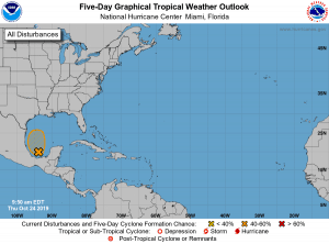 5-Day Tropical Outlook | October 24, 2019, 9:30am ET