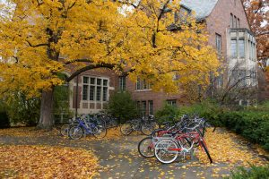 bicycles on campus