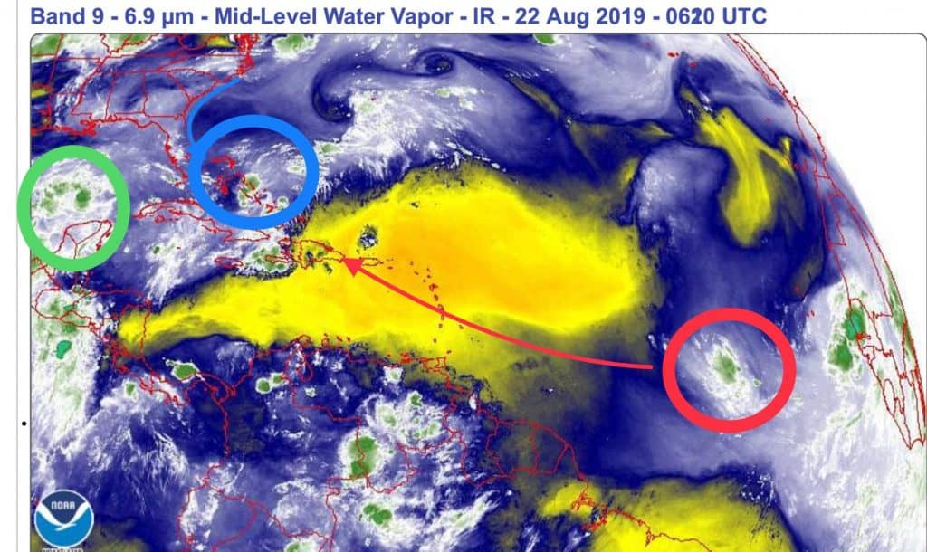 Atlantic Water Vapor | August 22, 2019
