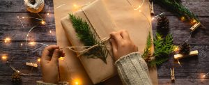 Green gift wrapping