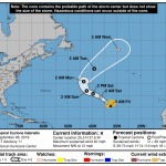 Gabrielle NHC Cone | September 6, 2019, 5am AST