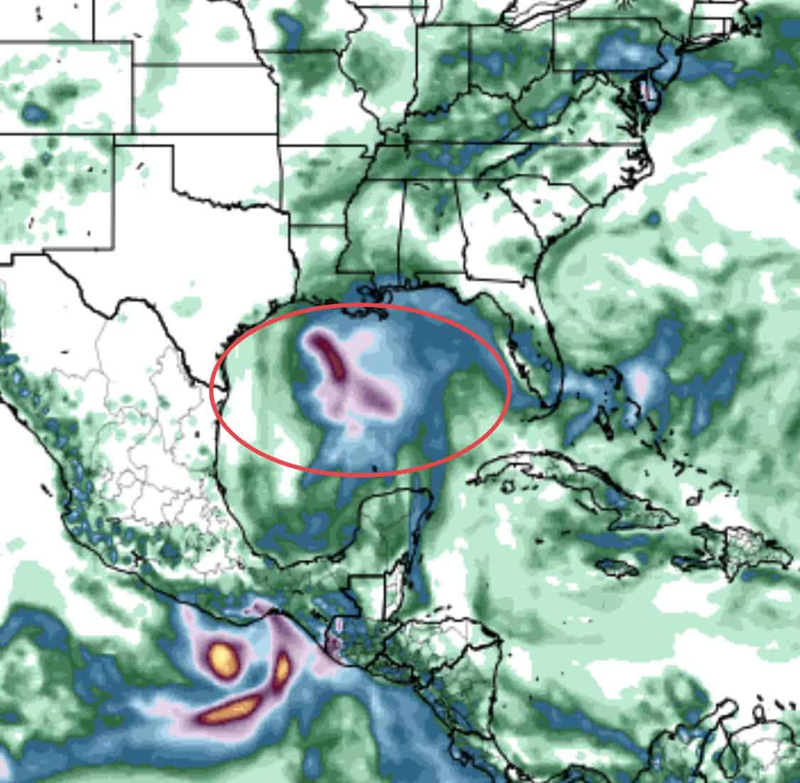 Gulf of Mexico Moisture | August 14, 2019