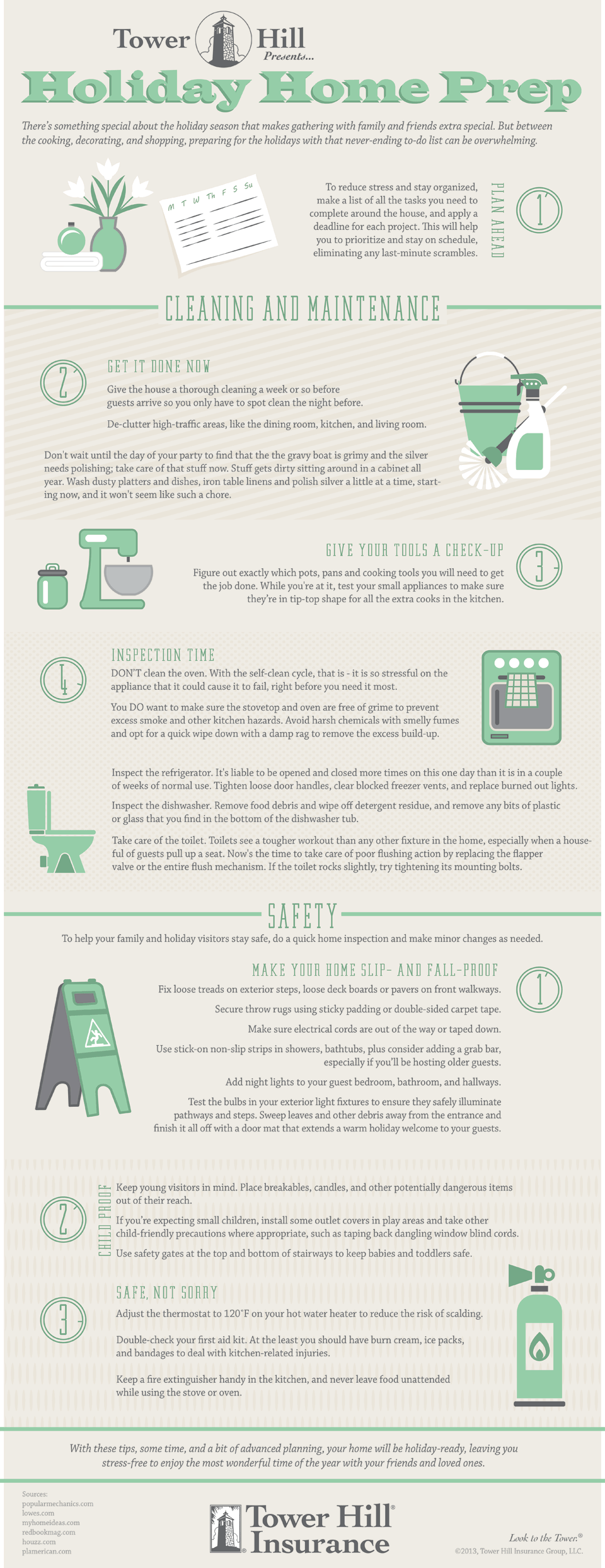Holiday Home Prep Infographic