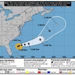 Humberto NHC Forecast Cone   September 16, 2019 5am ET