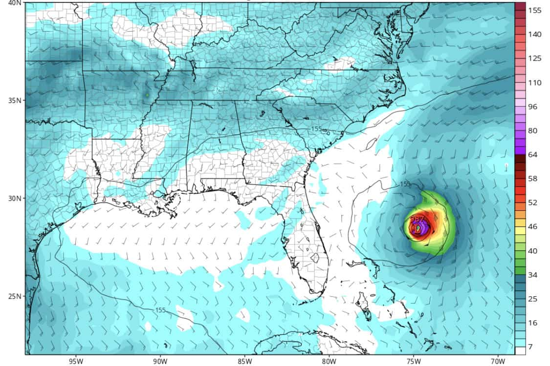 Invest 95 GFS Model | Day 10 (8/10/2019)
