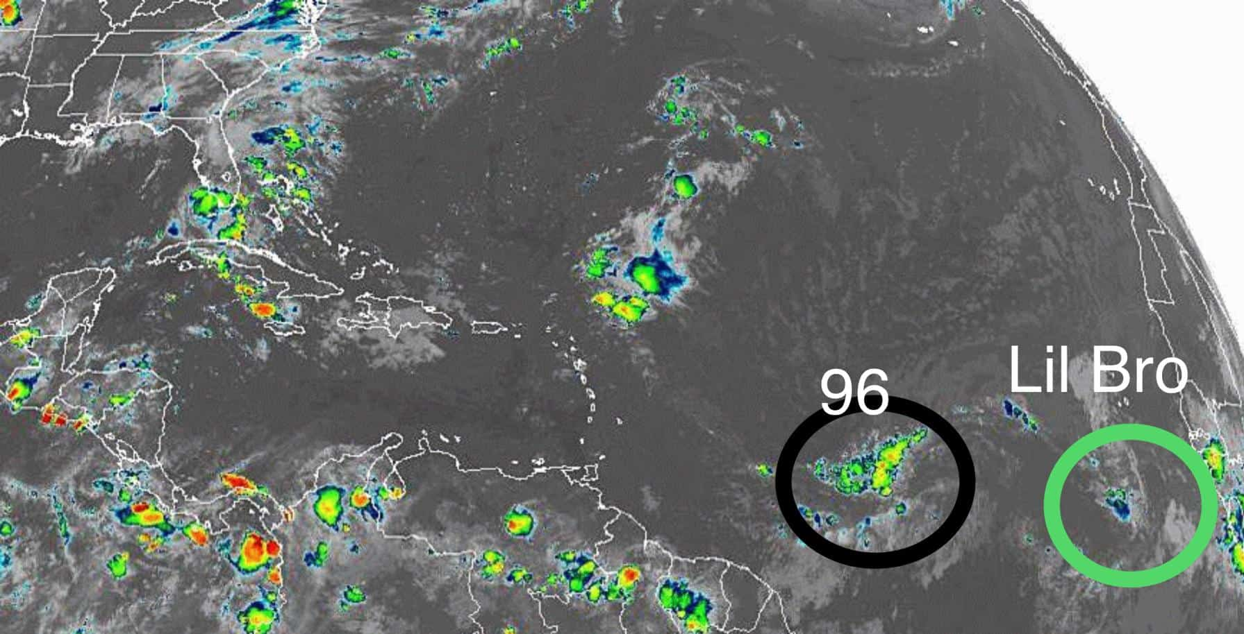 Invest 96L and its Little Brother