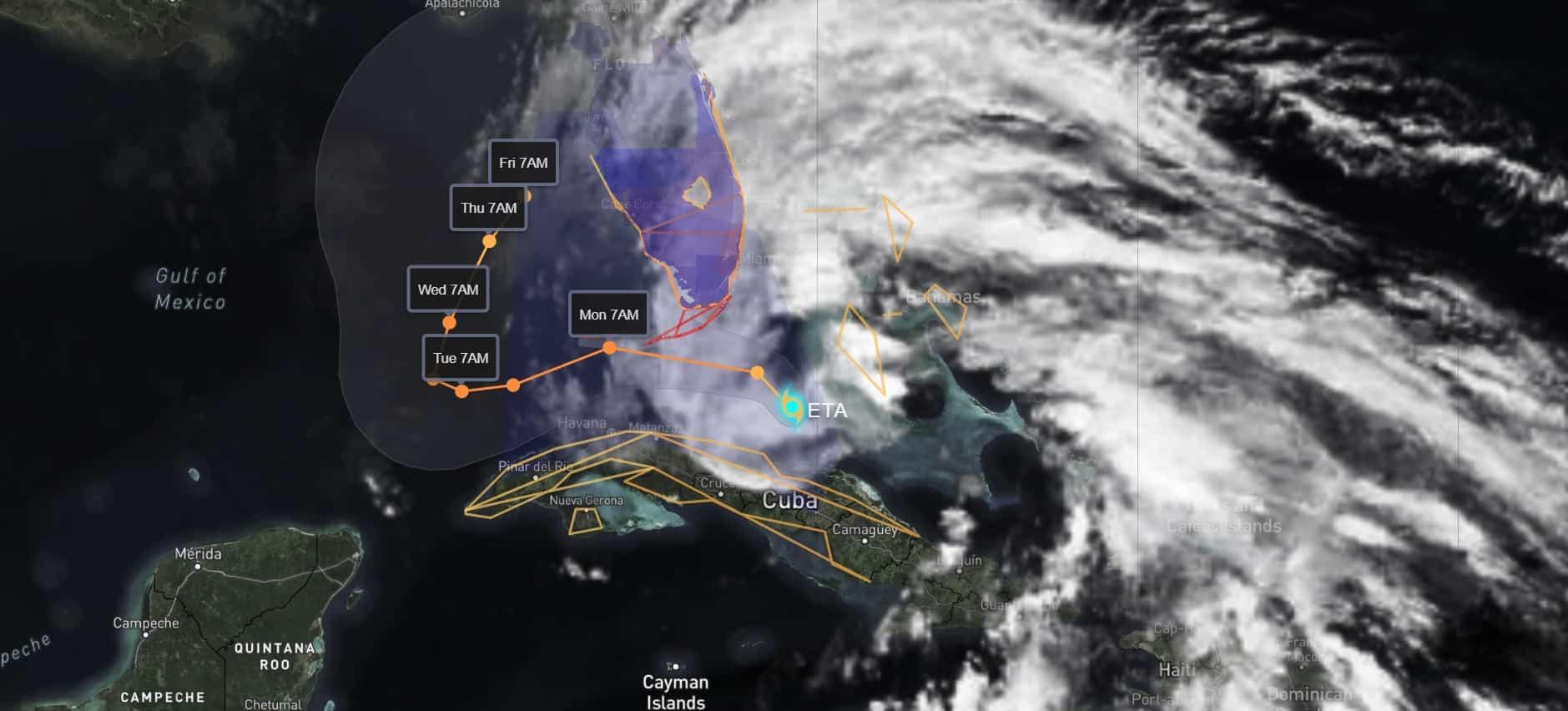 Eta Satellite   November 8, 2020