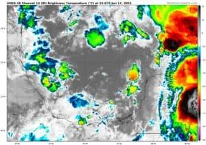 GOES-16 Channel 13 (IR) Brightness Temperature   June 17, 2021