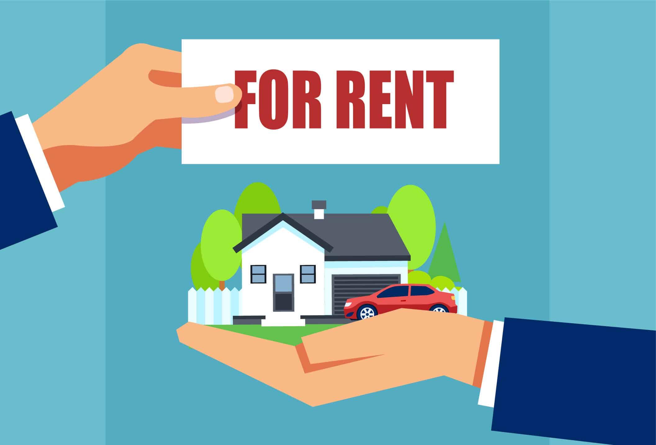 Home For Rent illustration