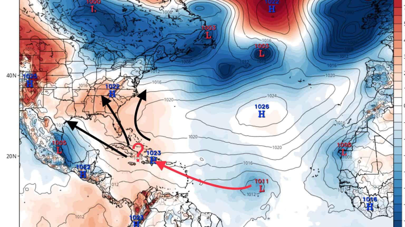PTC 9 Potential Tracks   July 28, 2020