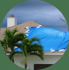 Tarped roof