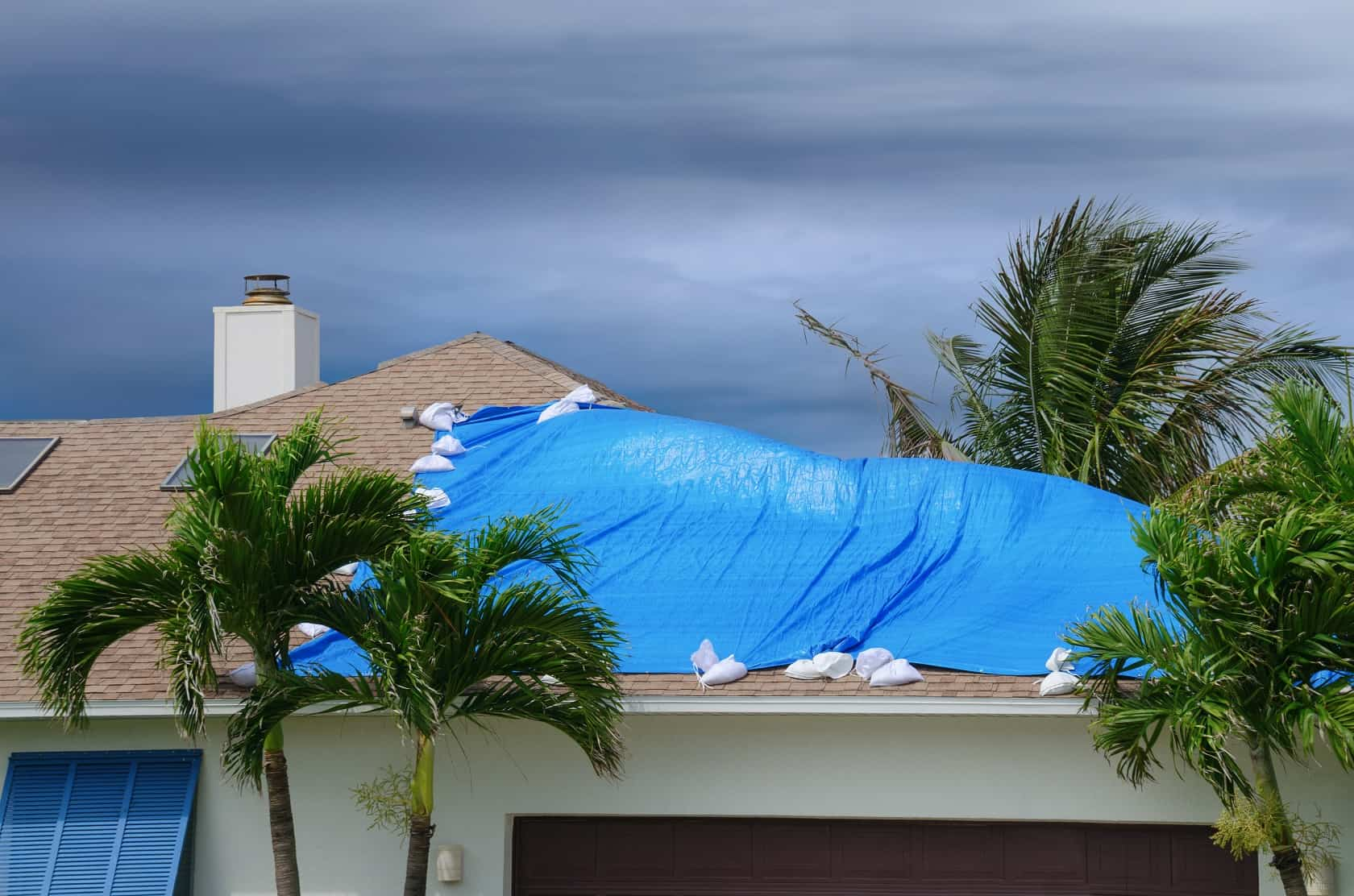 Tarped roof in Florida