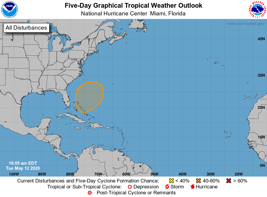 Atlantic 5-Day Outlook | May 12, 2020