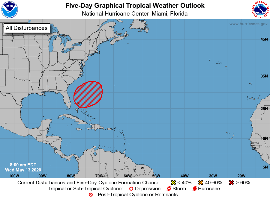 Atlantic 5-Day Outlook | May 13, 2020