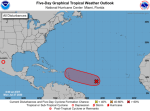 Five-Day Graphical Tropical Weather Outlook | July 27, 2020