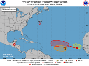 Five-Day Graphical Tropical Weather Outlook | September 3, 2020