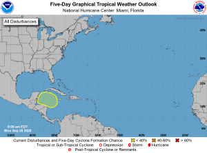 Five-Day Graphical Tropical Weather Outlook | September 28, 2020a