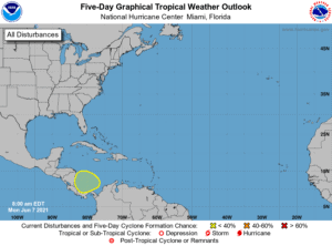 Five-Day Graphical Tropical Weather Outlook   June 7, 2021 8:00am EDT