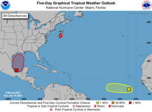 FIve-Day Graphical Tropical Weather Outlook   June 15, 2021