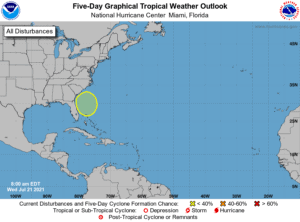 Five-Day Graphical Tropical Weather Outlook   July 21, 2021