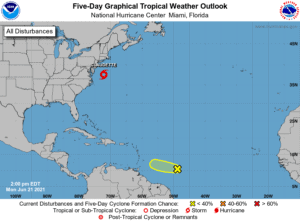 Five-Day Tropical Weather Outlook   June 21, 2021, 2:00pm ET