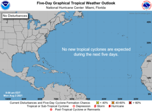 Five-Day Graphical Tropical Weather Outlook | August 2, 2021