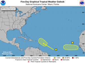 Five-Day Graphical Tropical Weather Outlook | August 4, 2021