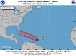 Five-Day Graphical Tropical Weather Outlook | August 9, 2021